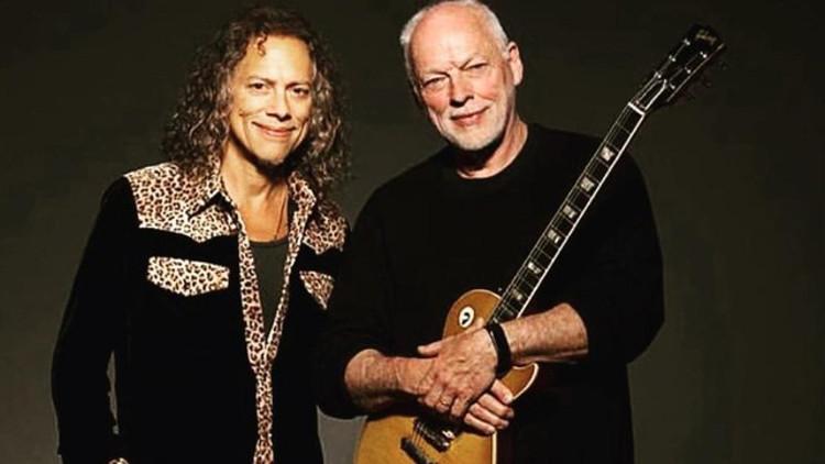 DAVID GILMOUR E KIRK HAMMETT 2021. I chitarristi di Pink Floyd e Metallica hanno contribuito alla registrazione per due canzoni mai pubblicate dai Fleetwood Mac.