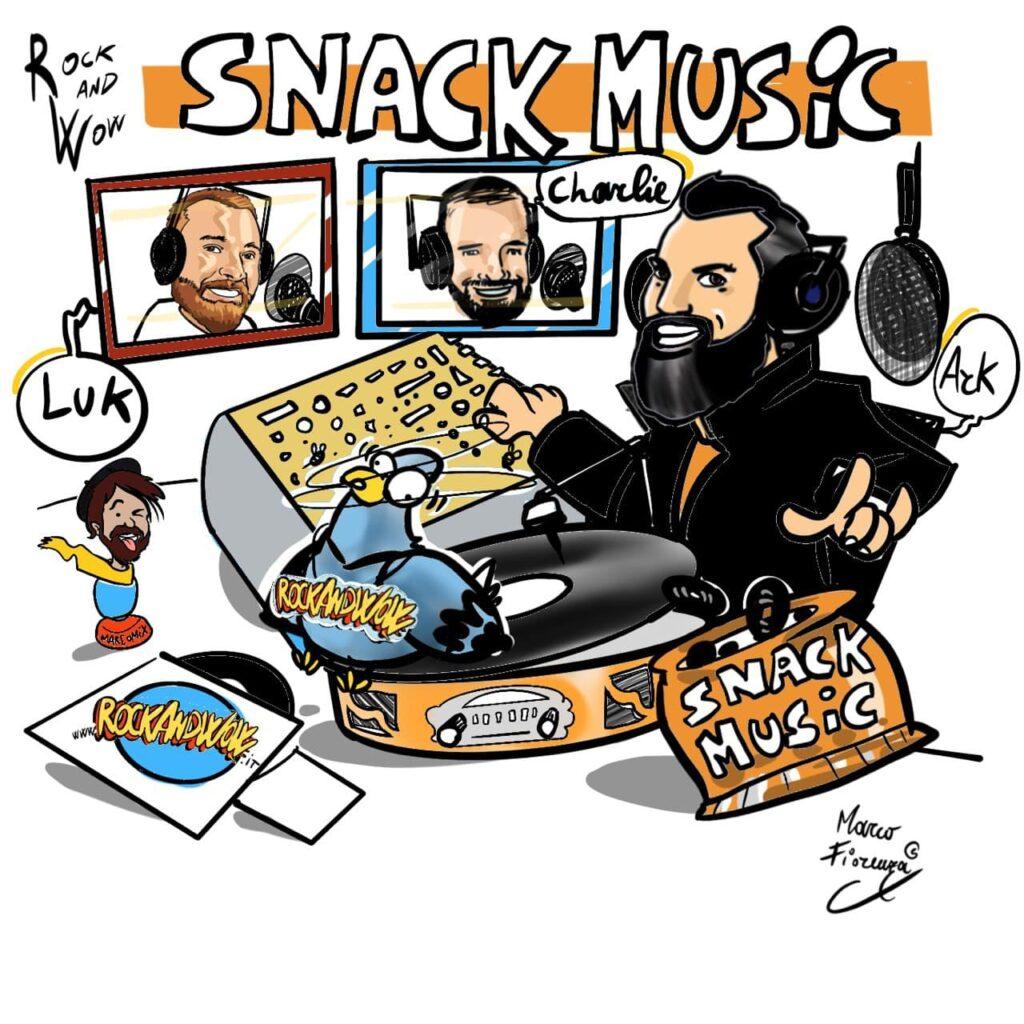 """Snack Music 2021, il format che stavate cercando! Musica libera, alternativa allo standard radiofonico, arricchita da """"gustoso"""" materiale di cui """"nutrirsi"""", per trascorrere un po' del vostro prezioso tempo in compagnia di Ark."""
