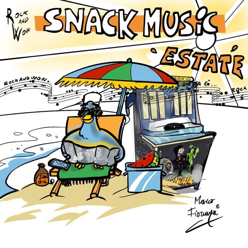 """RoCkAnDwOw Snack Music 41 Estate, Free Music Podcast Rock: il format compatto della serie che ha """"nutrito"""" i veri buongustai di musica."""
